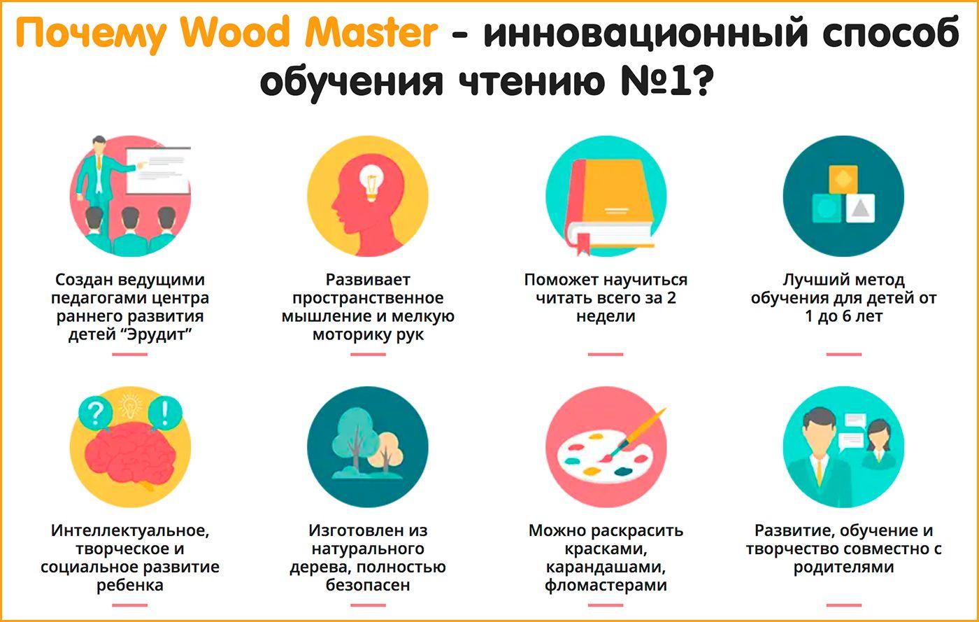 Wood Master - инновационная методика обучения чтению свойства