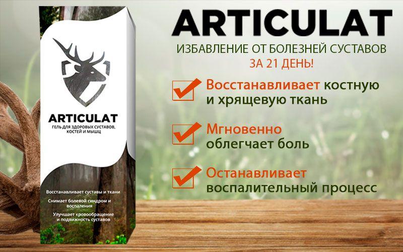 Articulat (Артикулат) - гель для здоровья суставов свойства