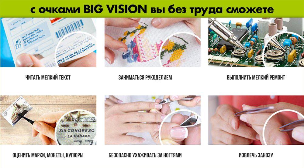 Big Vision (Биг Визион) - увеличивающие очки свойства