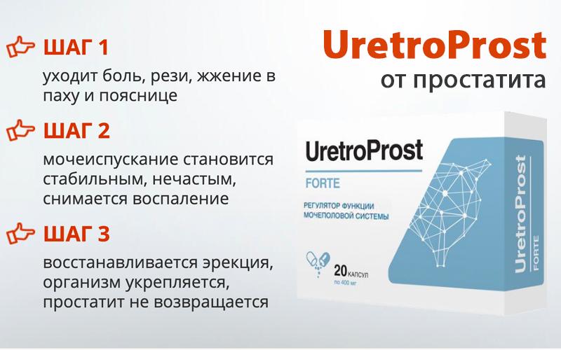 UretroProst (УретроПрост) - против хронического простатита свойства