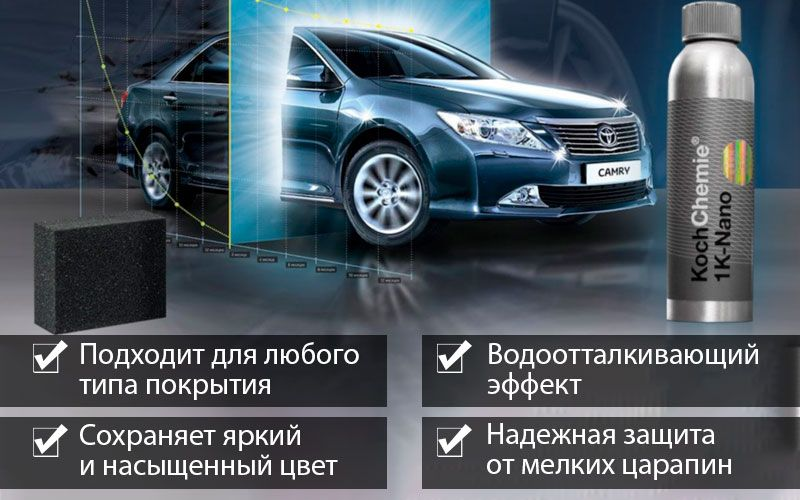 1K NANO LACK для защиты ЛКП авто свойства