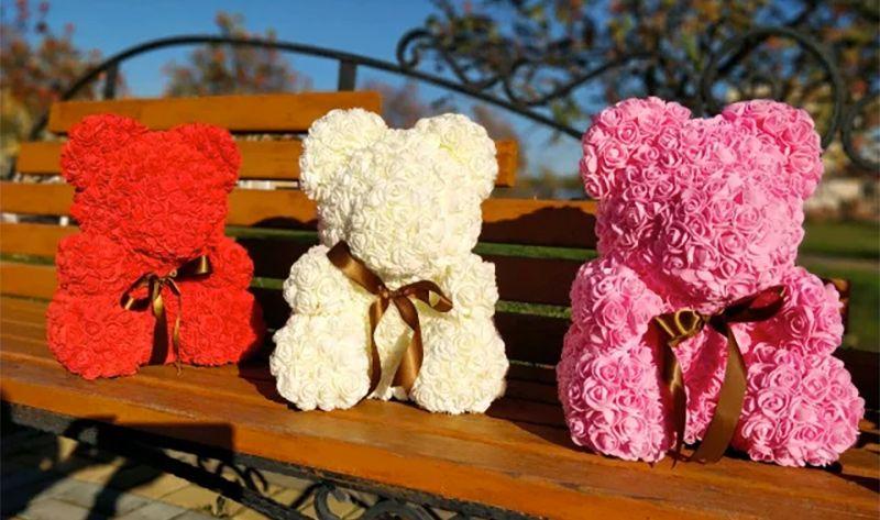Мишки из роз - лучший подарок