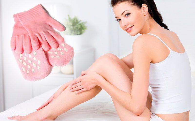купить Гелевые перчатки и носочки для spa ухода за руками и ногами