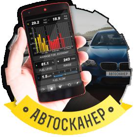 Автосканер беспроводной ELM327 Bluetooth