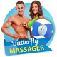 Butterfly massager - массажер