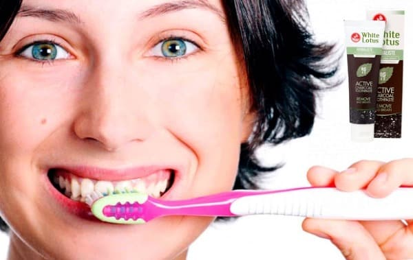 купить White Lotus (Вайт Лотус) - черная зубная паста