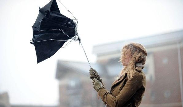 сломаный зонт